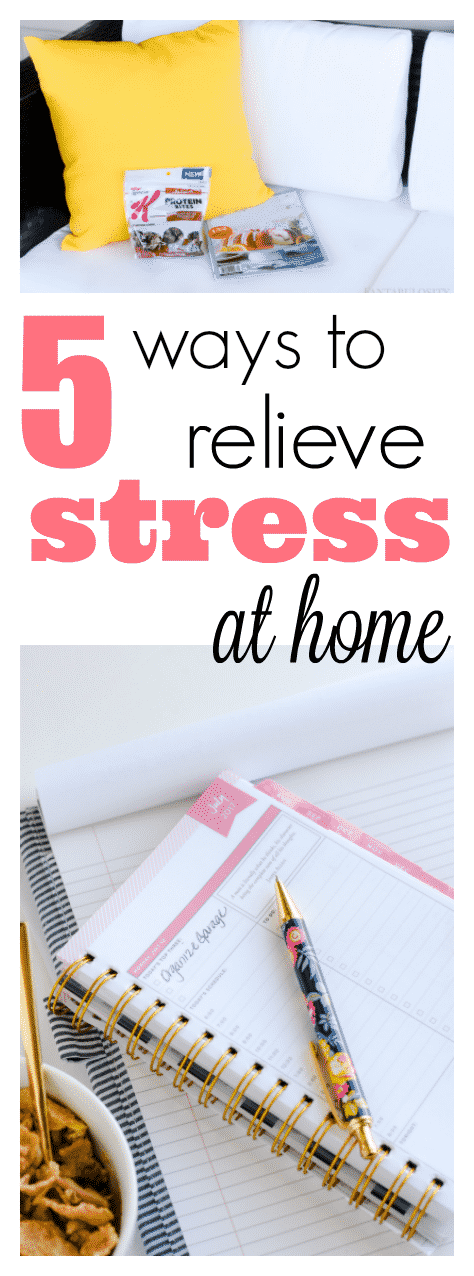 5 easy ways to relieve stress while at home. Perfect for anxiety, anger, frustration and sadness. It's amazing doing these little things can do!