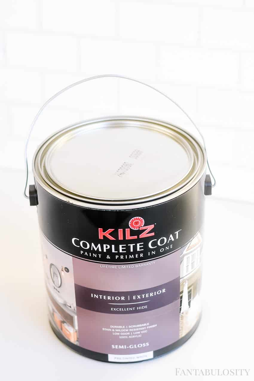 Kilz Paint for the Fantabulosity White Kitchen Studio