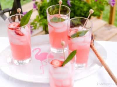 Flamingo DIY Drink Tray using Martha Stewart Paint