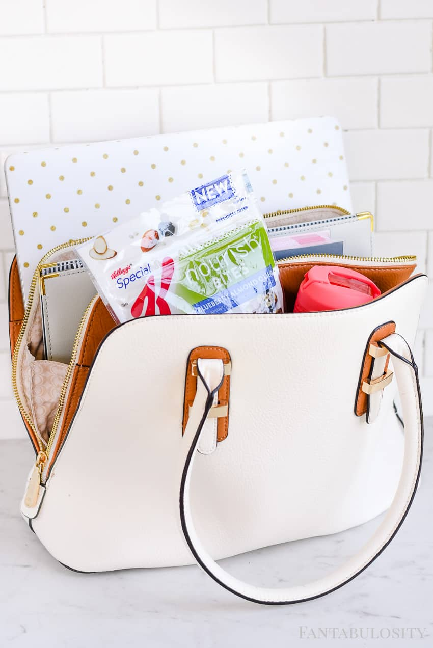 Day Bag Organization and mobile office on the go. Everything she needs is in this bag. Perfect for busy mom running errands, or working away from home.