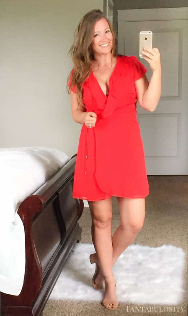 July 2017 Trunk Club Tie Wrap Dress - Hot pink/red trunk club dress from nordstrom