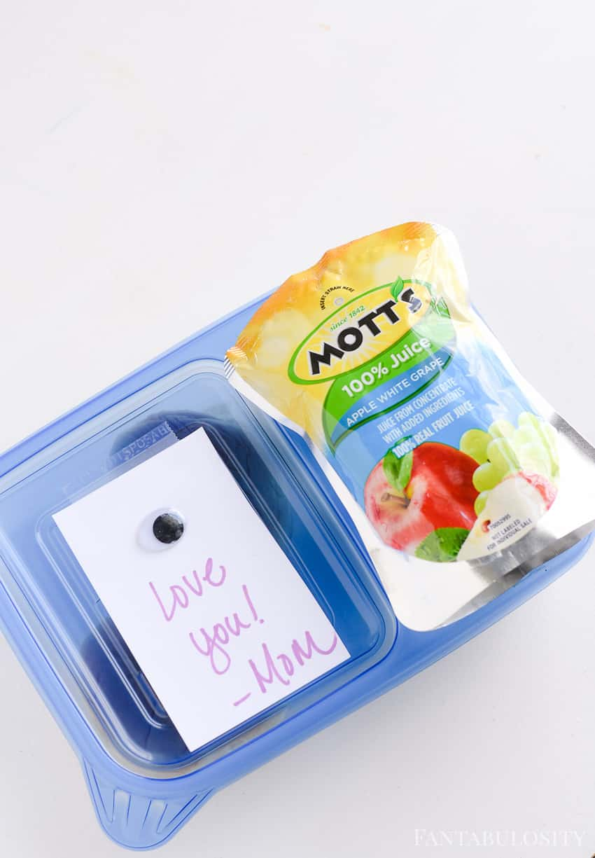 Aw, a cute little message for a school lunch bento box