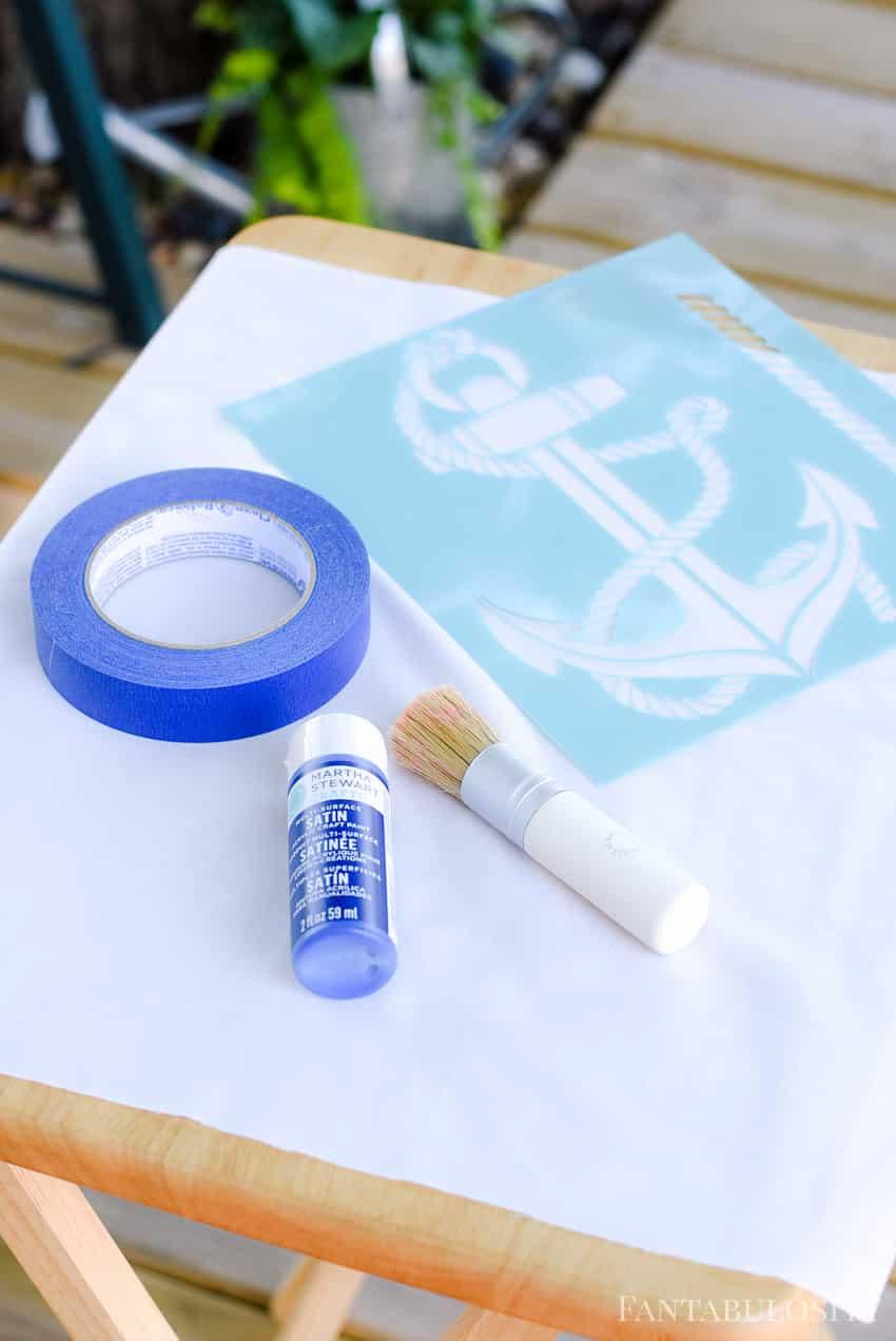 Martha Stewart Paint Crafts DIY Anchor PIllow