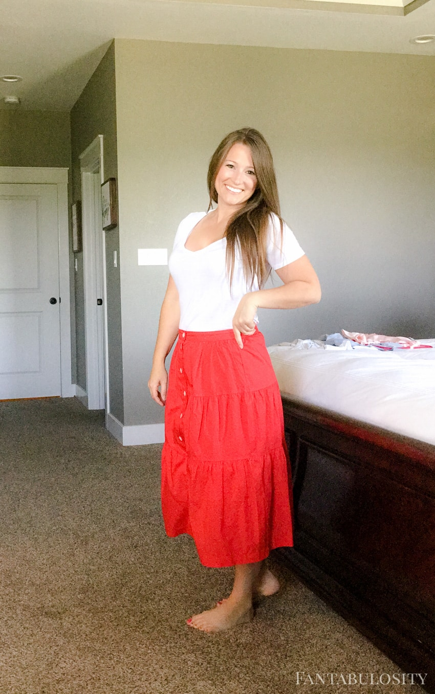 Red Skirt from Madewell/Nordstrom