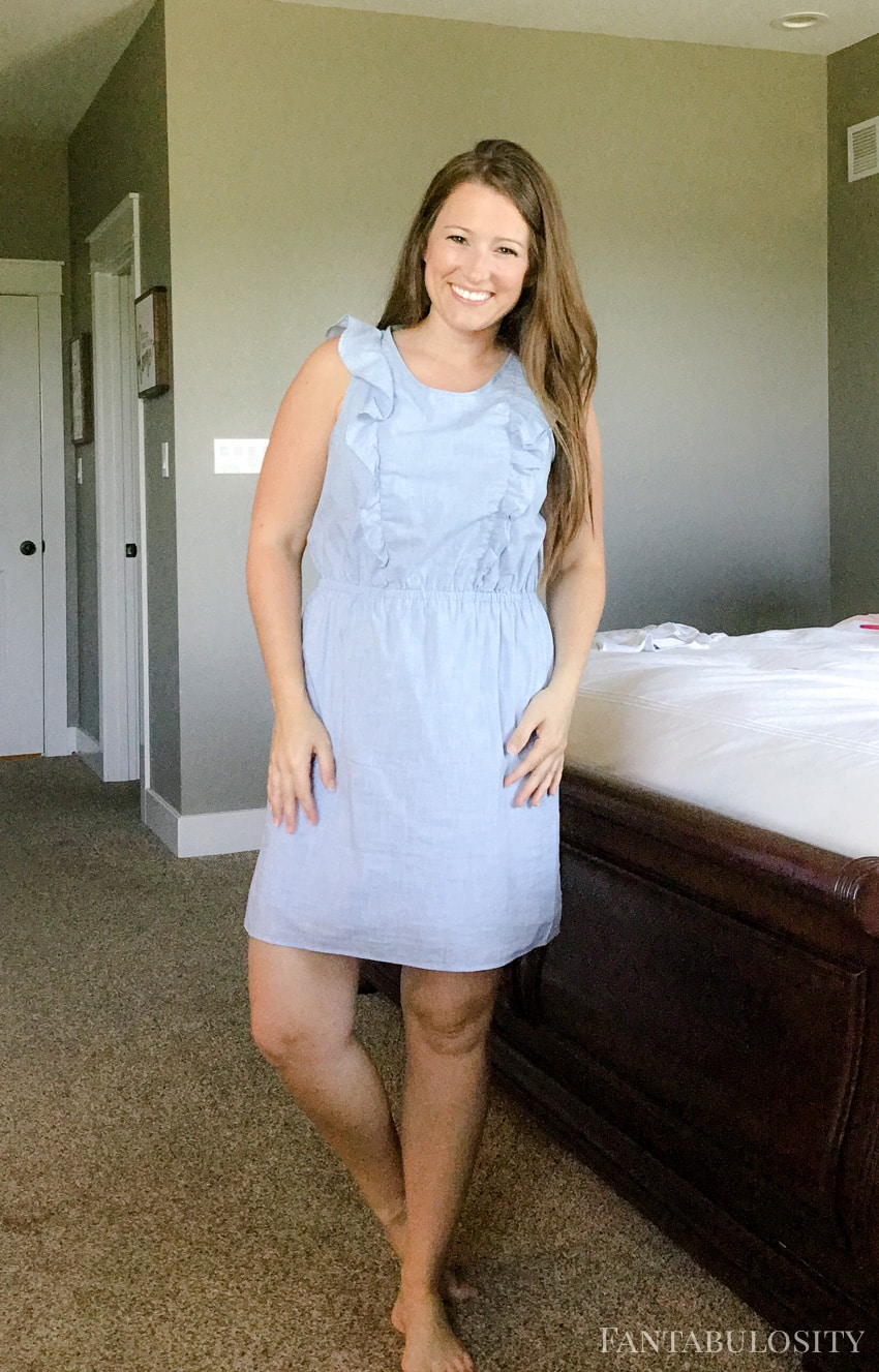 Madewell Blue Ruffles Dress from nordstrom.