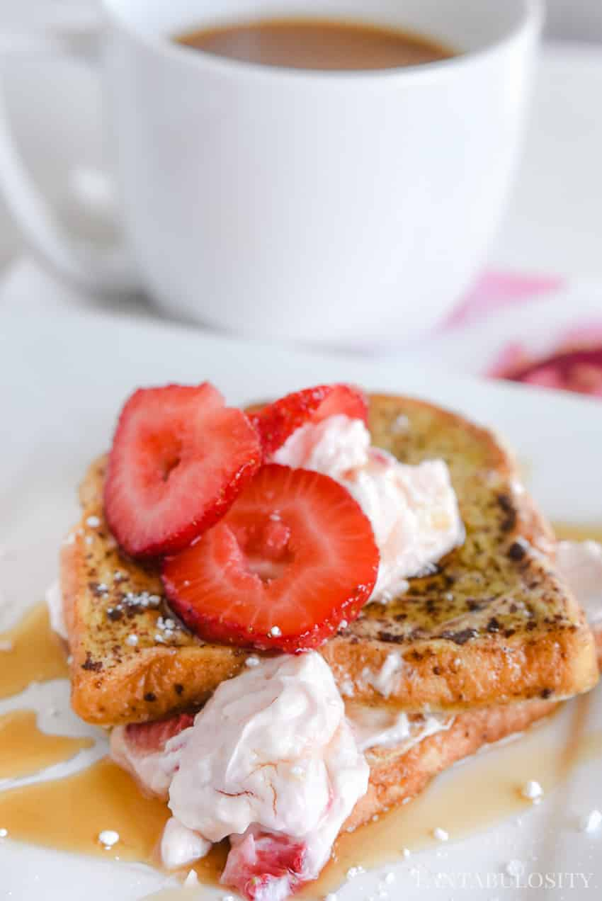 Pair this stuffed french toast with coffee, and you have a weekend breakfast that tastes like heaven! Stuffed French toast recipe