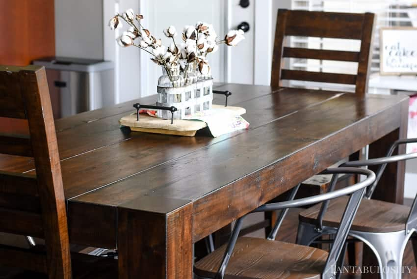 Breakfast area and brown table with metal chairs - Modern Farmhouse Craftsman Home