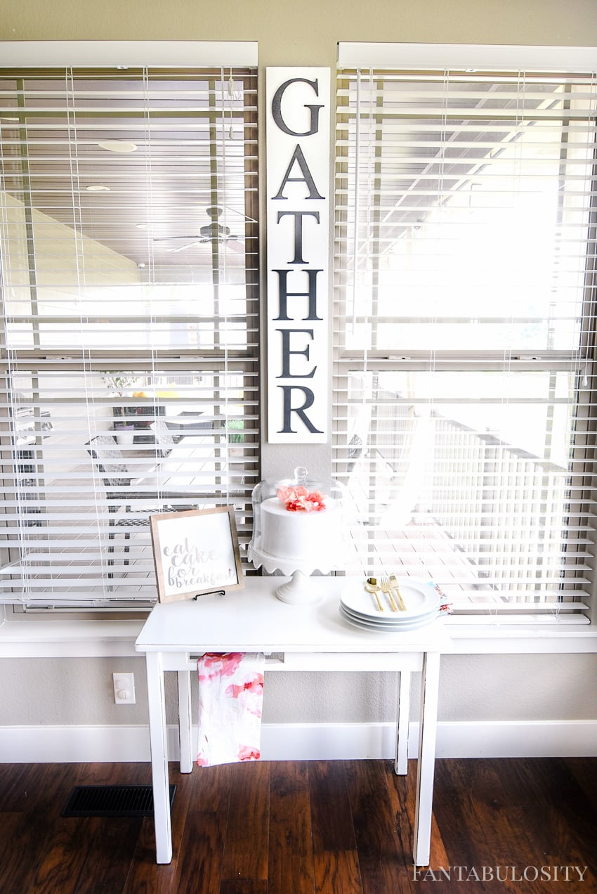 Gather Modern Farmhouse sign - Breakfast Nook - Modern Farmhouse Craftsman Home
