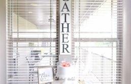 Gather DIY sign for Breakfast Nook - Modern Farmhouse Craftsman Home