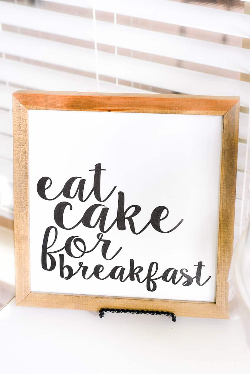 Eat cake for breakfast - Breakfast Nook - Modern Farmhouse Craftsman Home