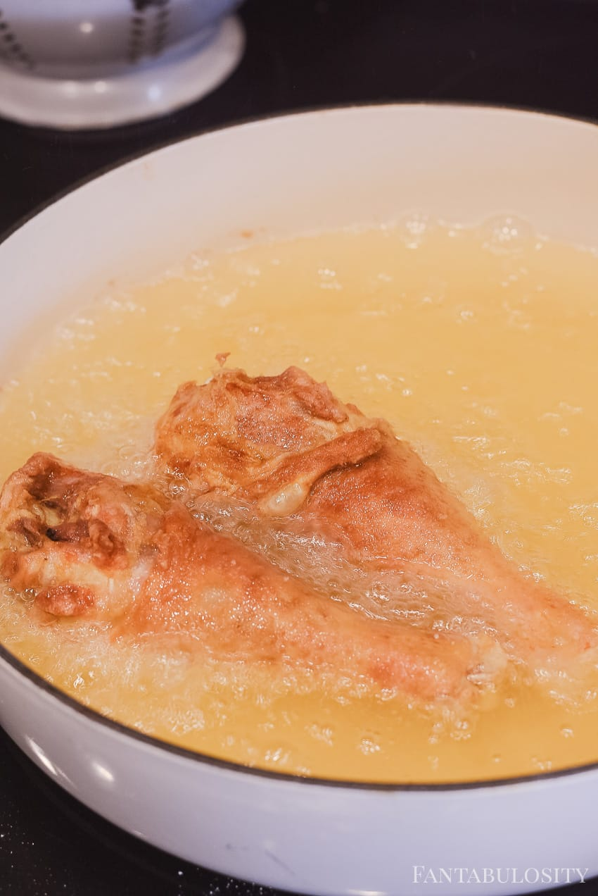 Oil in pan - pan frying chicken Easy Fried Chicken Recipe: This is the best I've had!