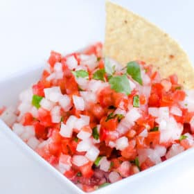 Easy Pico De Gallo Recipe - SOOOO so good with the lime juice and cilantro