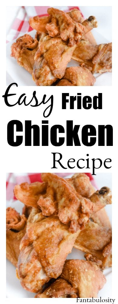 Easy fried chicken recipe using a few seasonings on hand make this so easy and the best!