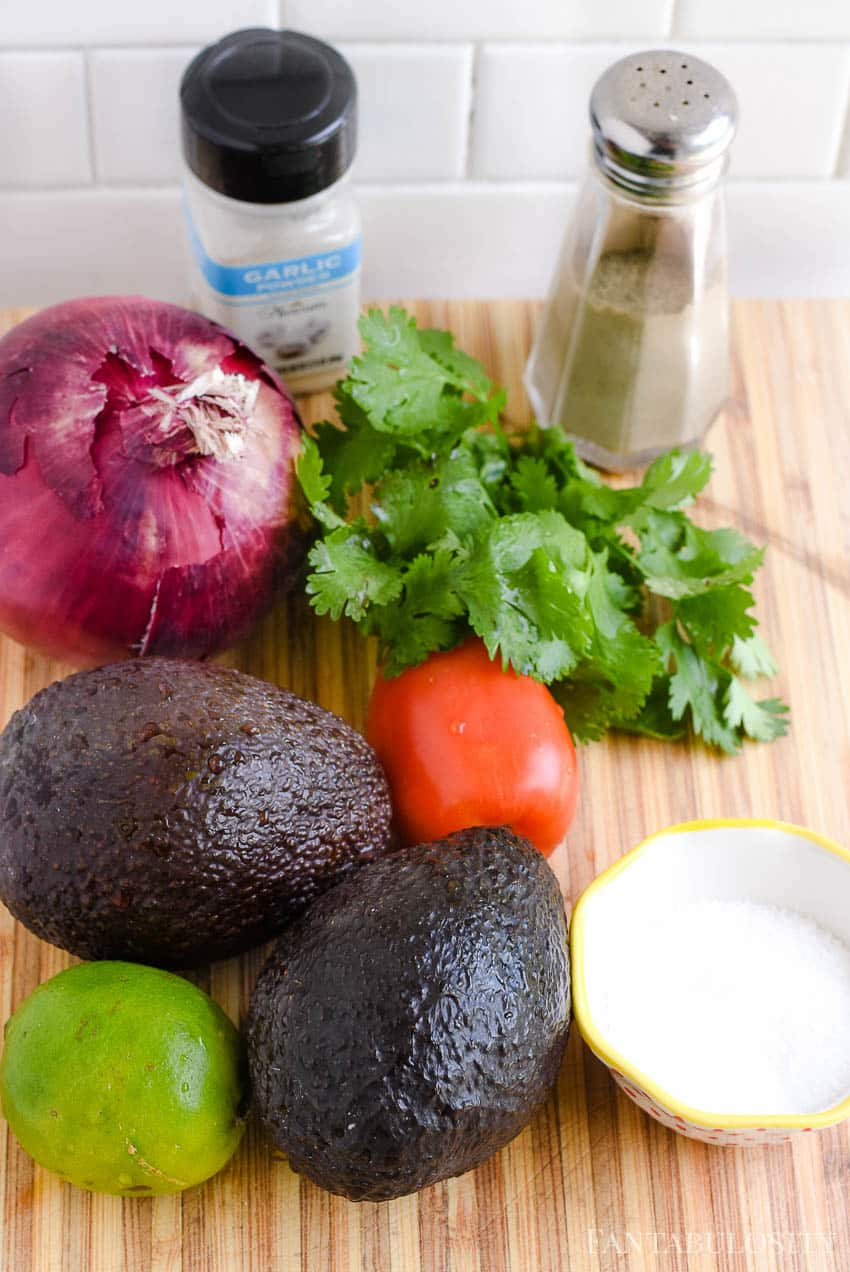 Guacamole Ingredients - Recipt is easy and the best!