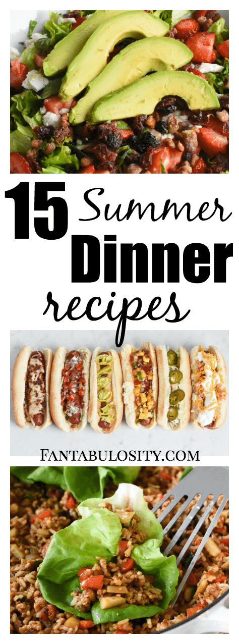 Summer dinner recipes, meals and ideas! SO easy, quick, and perfect for warm summer nights.
