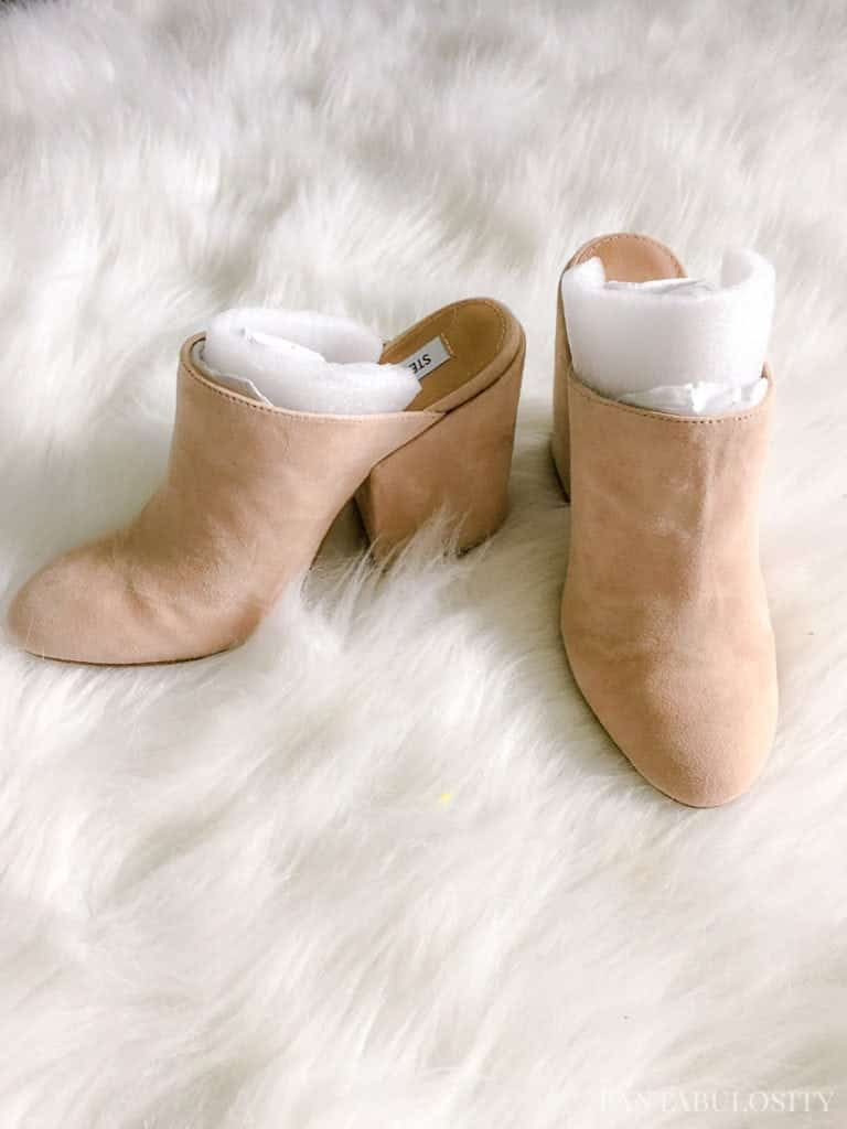 Nude mules from Nordstrom - Trunk Club September 2017