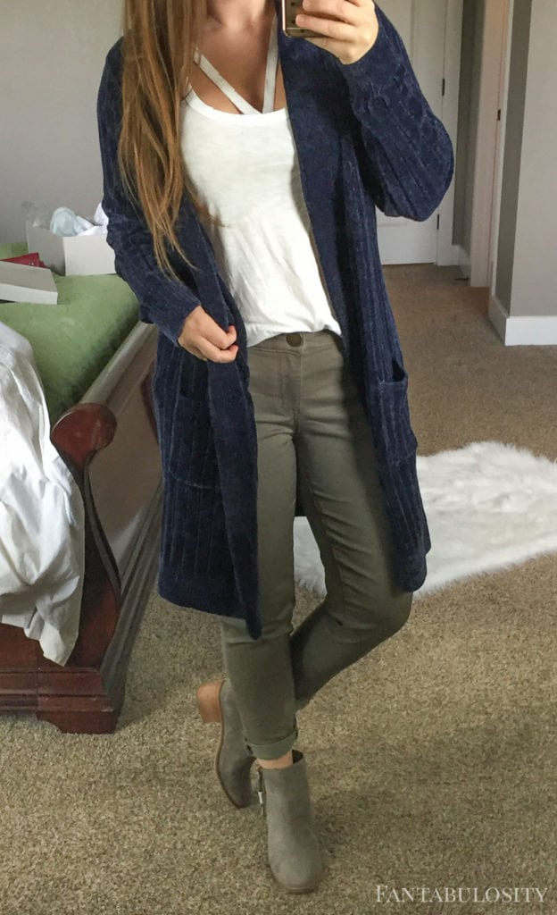Blue cardigan from nordstrom - so soft! Trunk Club September 2017