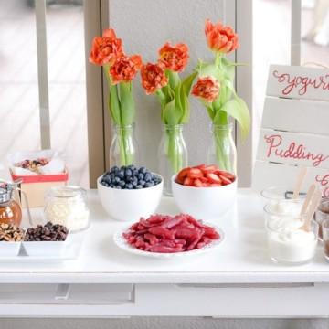 Yogurt and Pudding Bar Ideas