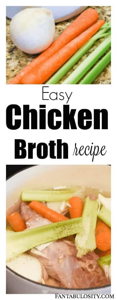 Easy Chicken Broth Recipe - How to Make Homemade Chicken Broth