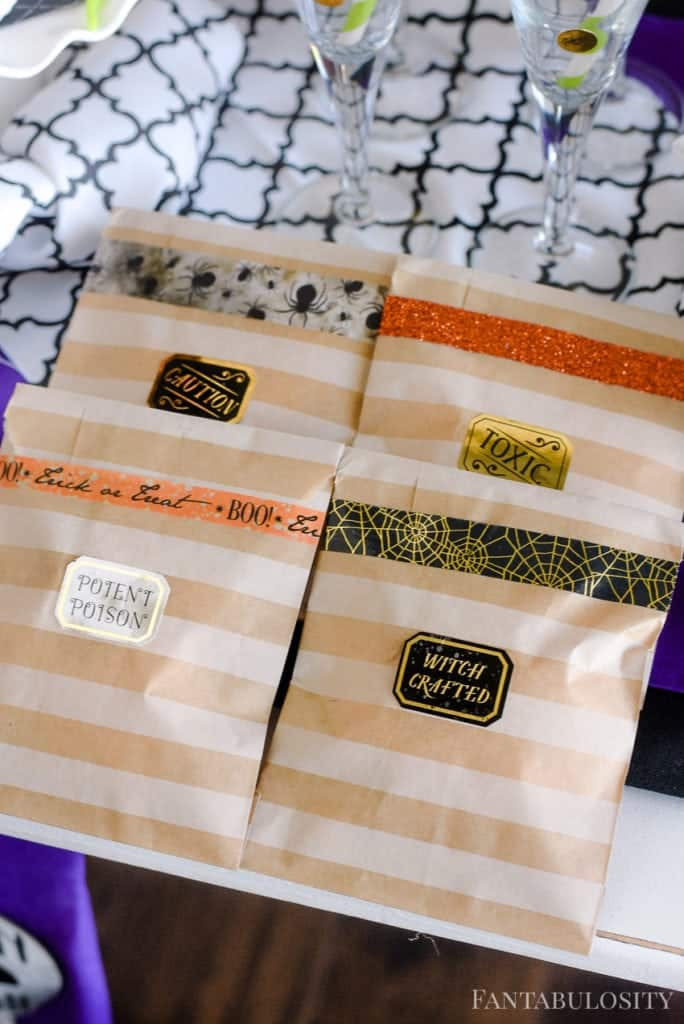 Halloween Party Favors - Washi Tape and treat bags