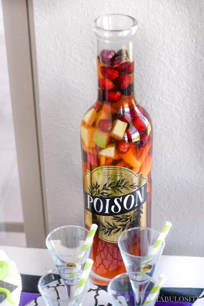 Halloween Party Drink Ideas - Poison Potion - Sangria Mocktail
