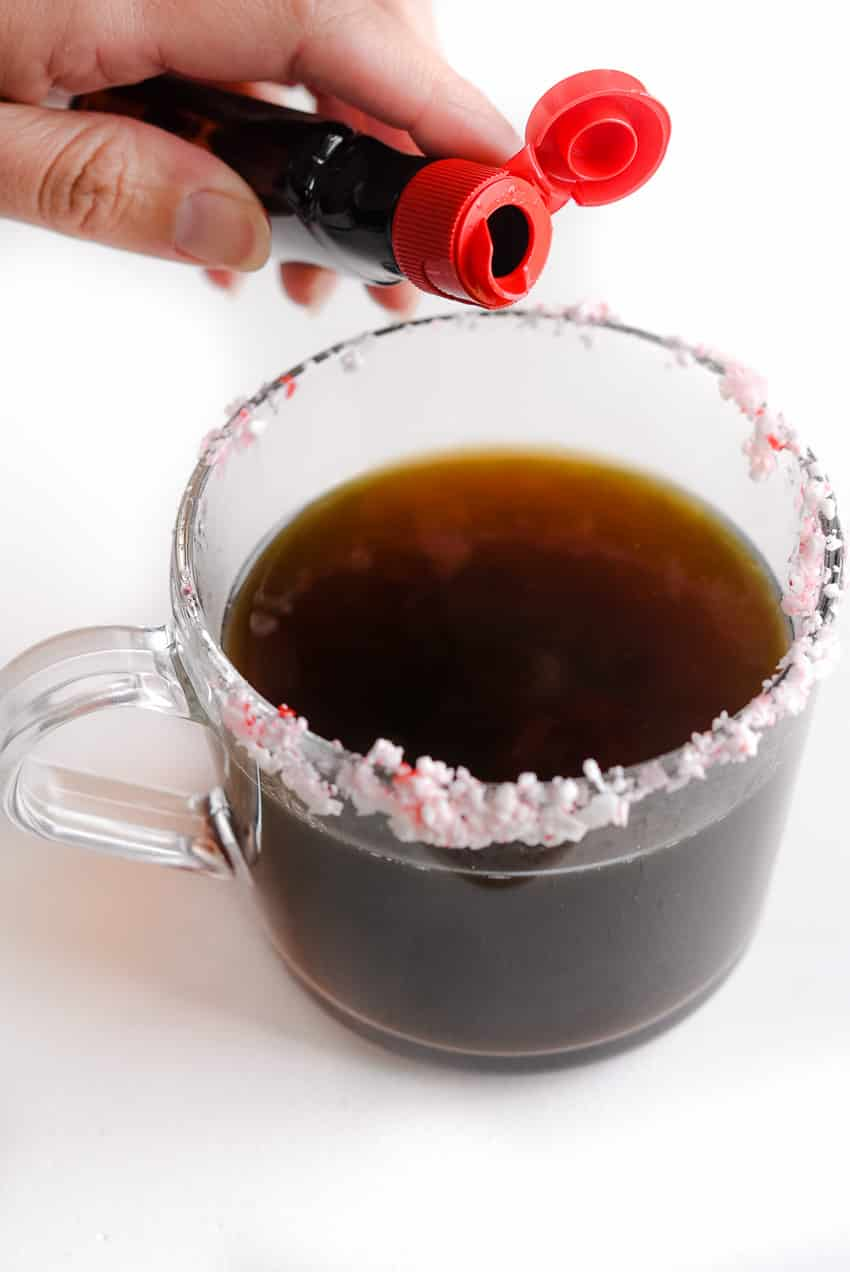 Add tsp of peppermint extract to your coffee