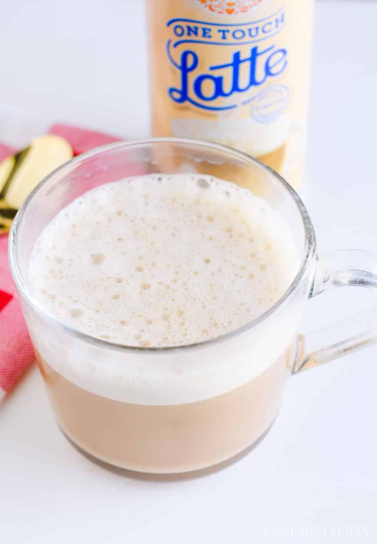 It's a latte in a jiffy! Peppermint vanilla latte