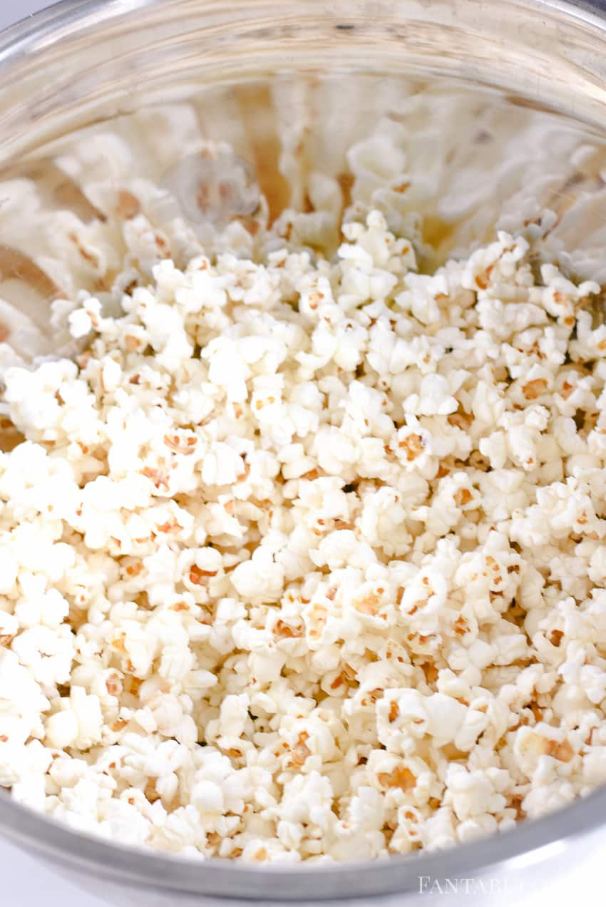 Pop the popcorn in the microwave - using my homemade recipe