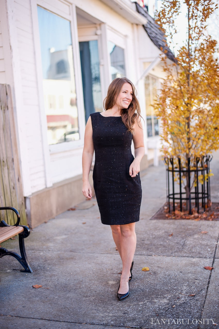 Holiday Black Dress - Macy's Anne Klein Sequined Sheath Dress reviews