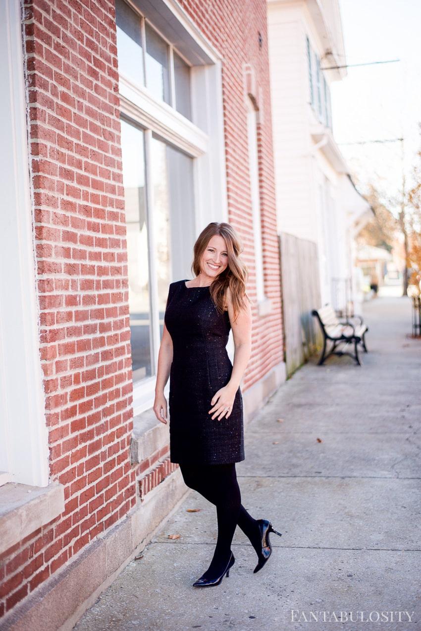 Holiday Black Dress - Macy's Anne Klein Sequined Sheath Dress
