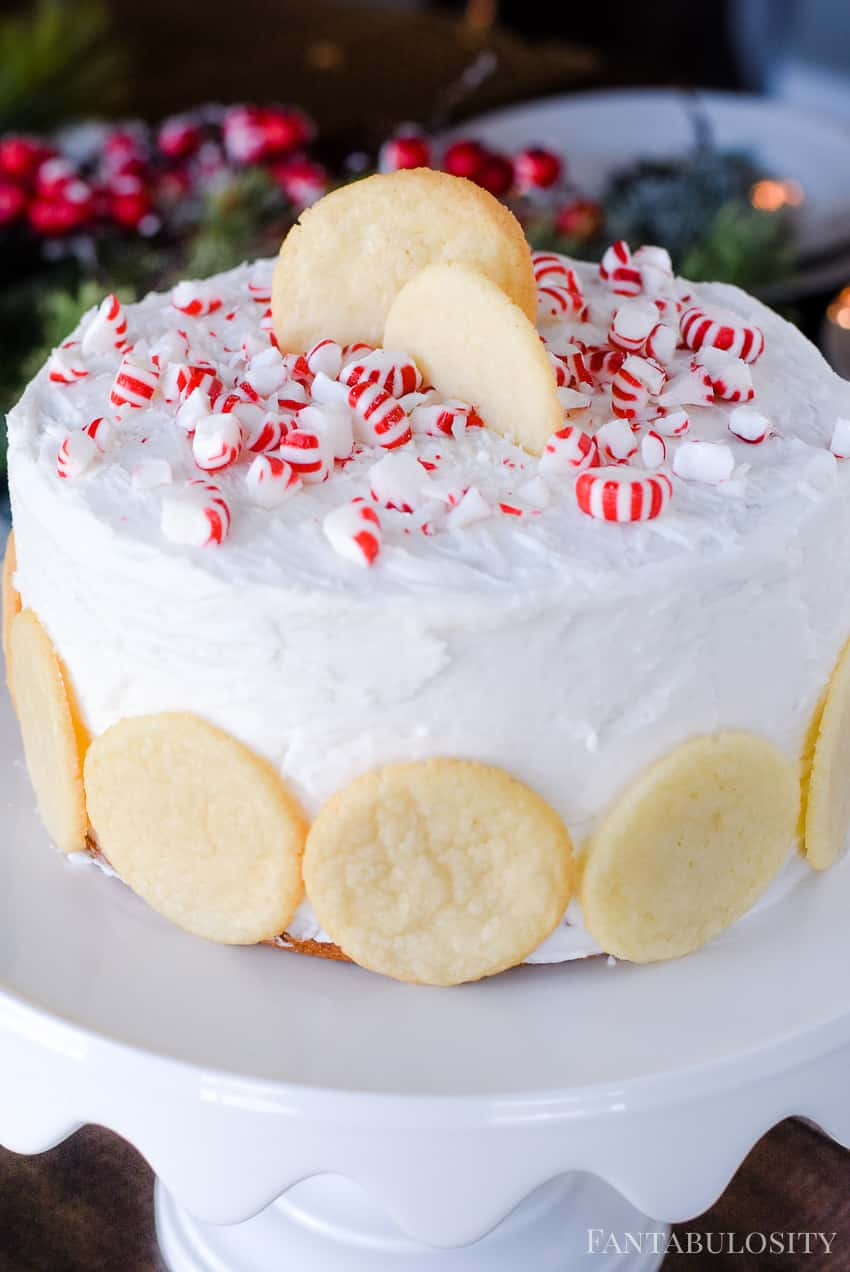 This was SOOO good, and perfect for the holidays! Peppermint Sugar Cookie Cake Recipe