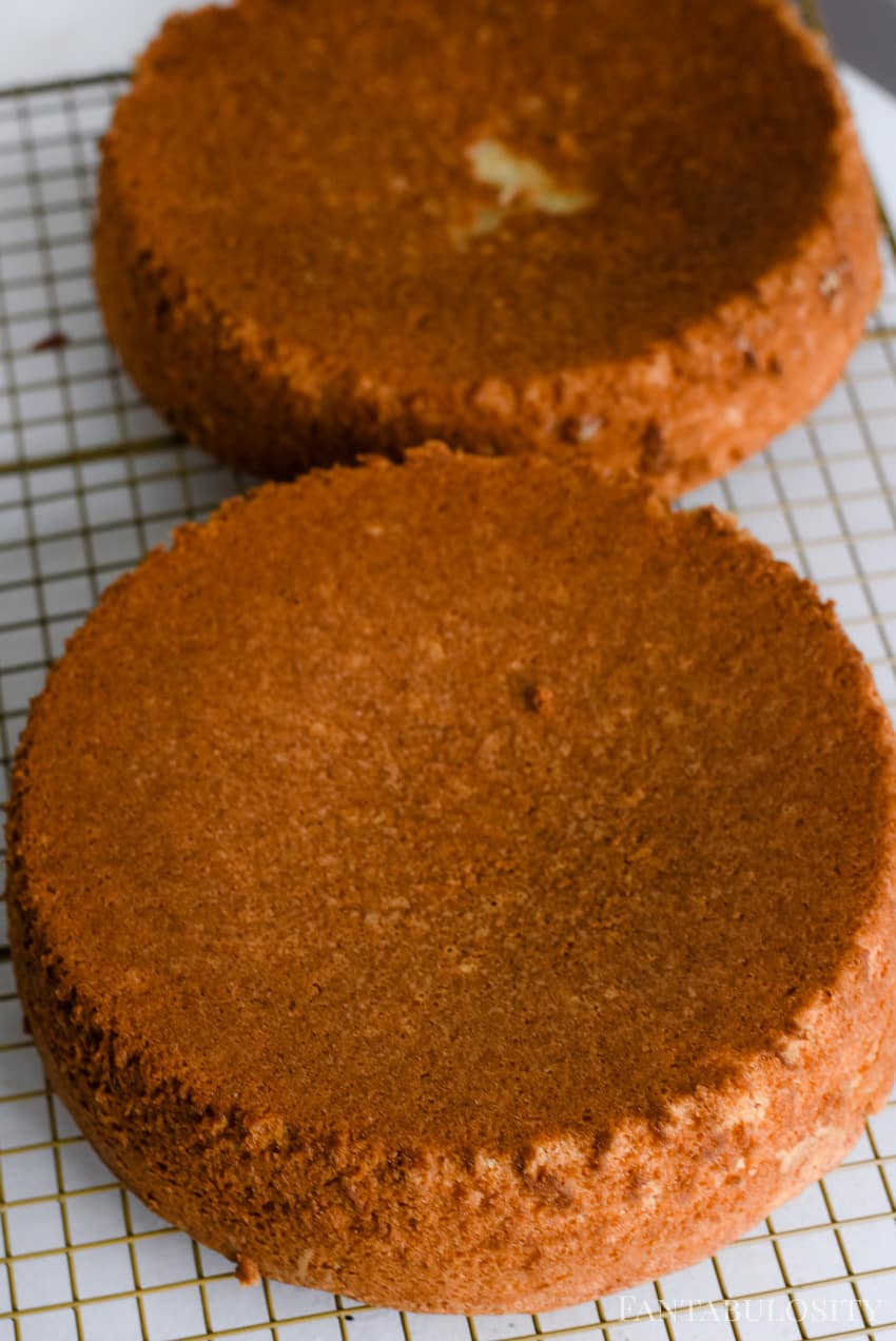 Bake cakes using creamer instead of water - peppermint sugar cookie cake