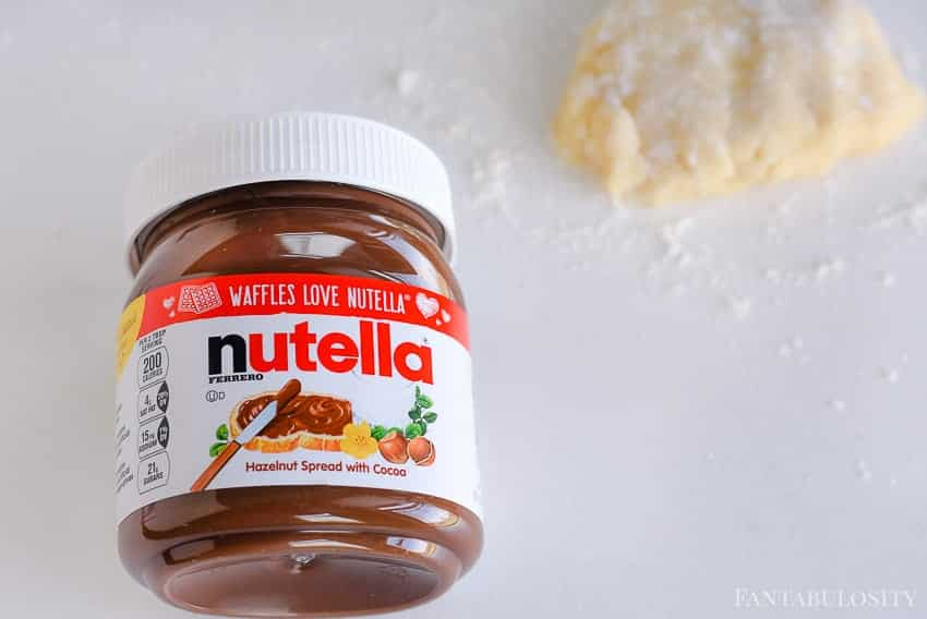 Nutella is delicious on top of sugar cookies!