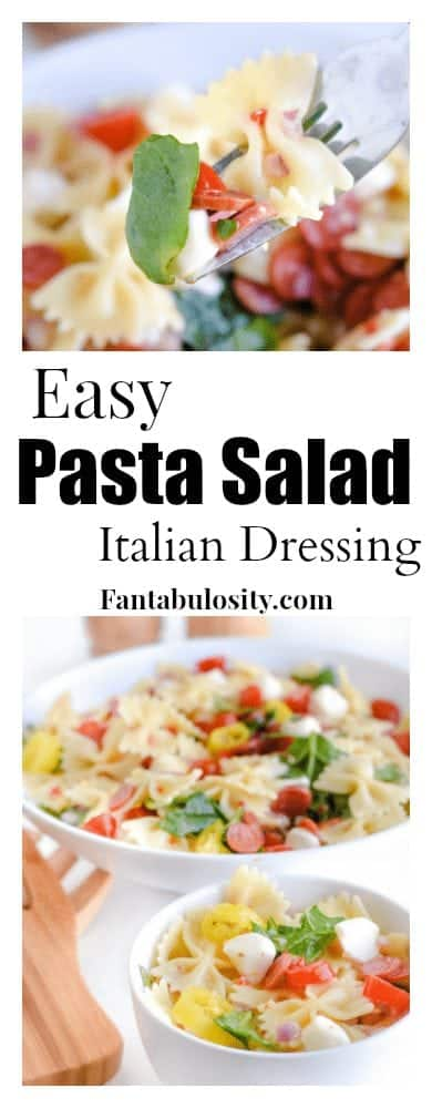 Pasta Salad with Italian Dressing - This recipe is so easy and the BEST