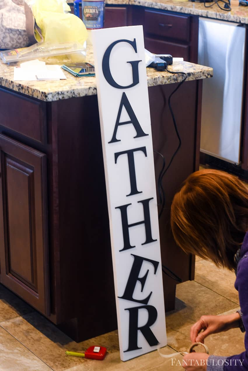 Use glue dots to position letters