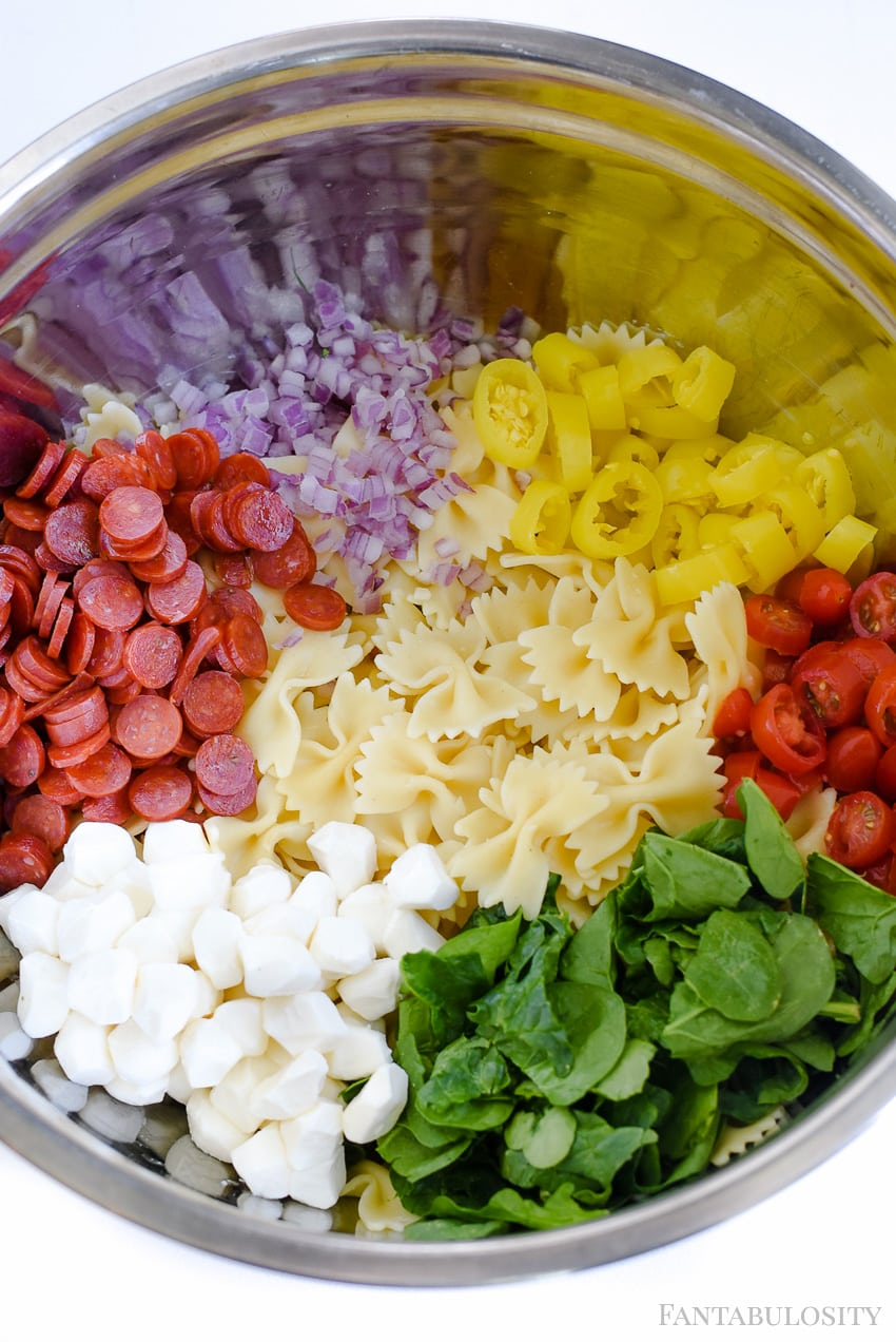 Italian Pasta Salad Recipe This Cold Blend Of Ings Is Amazingly Good Love The