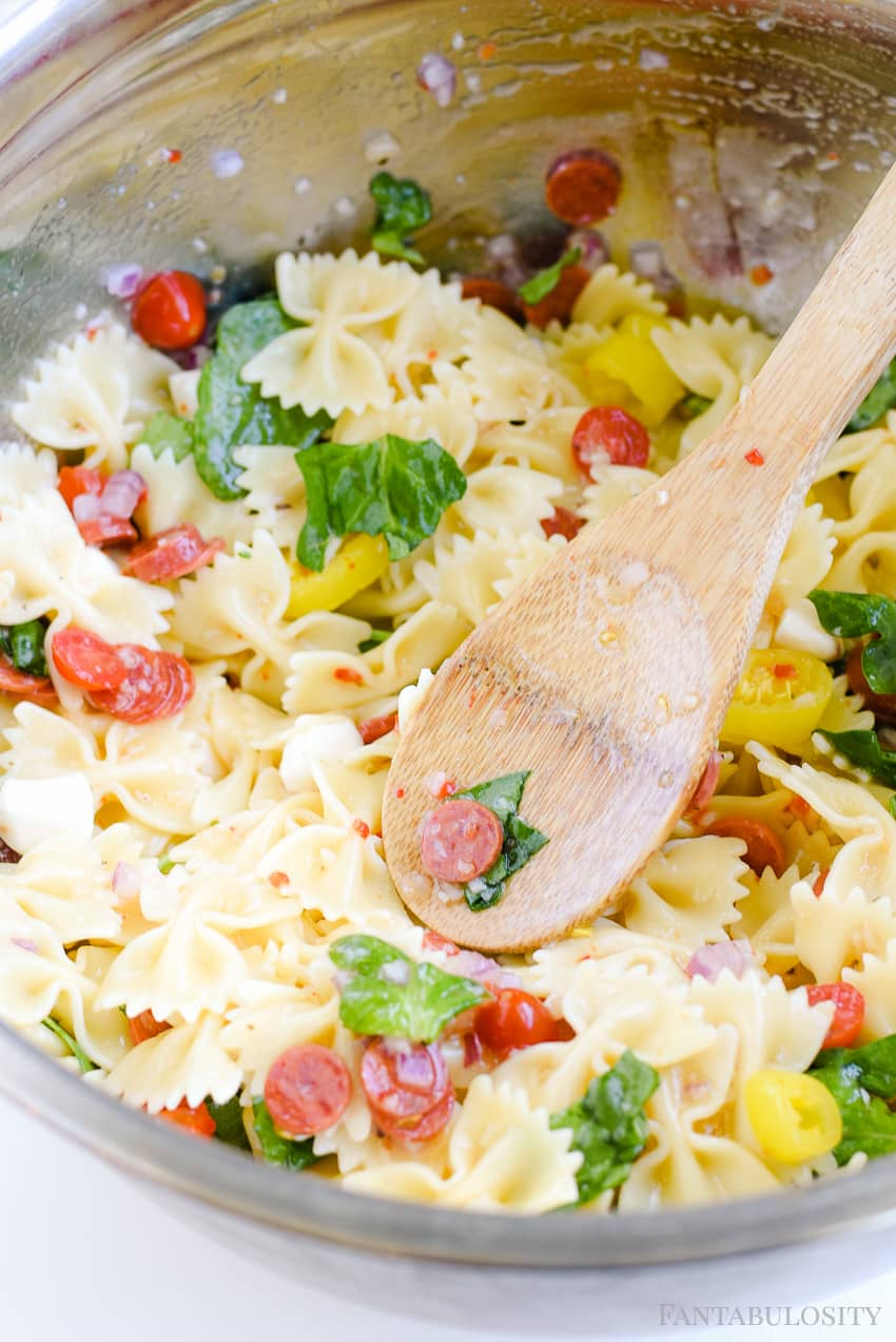 Easy Pasta Salad Recipe - Cold and Italian style, my favorite!