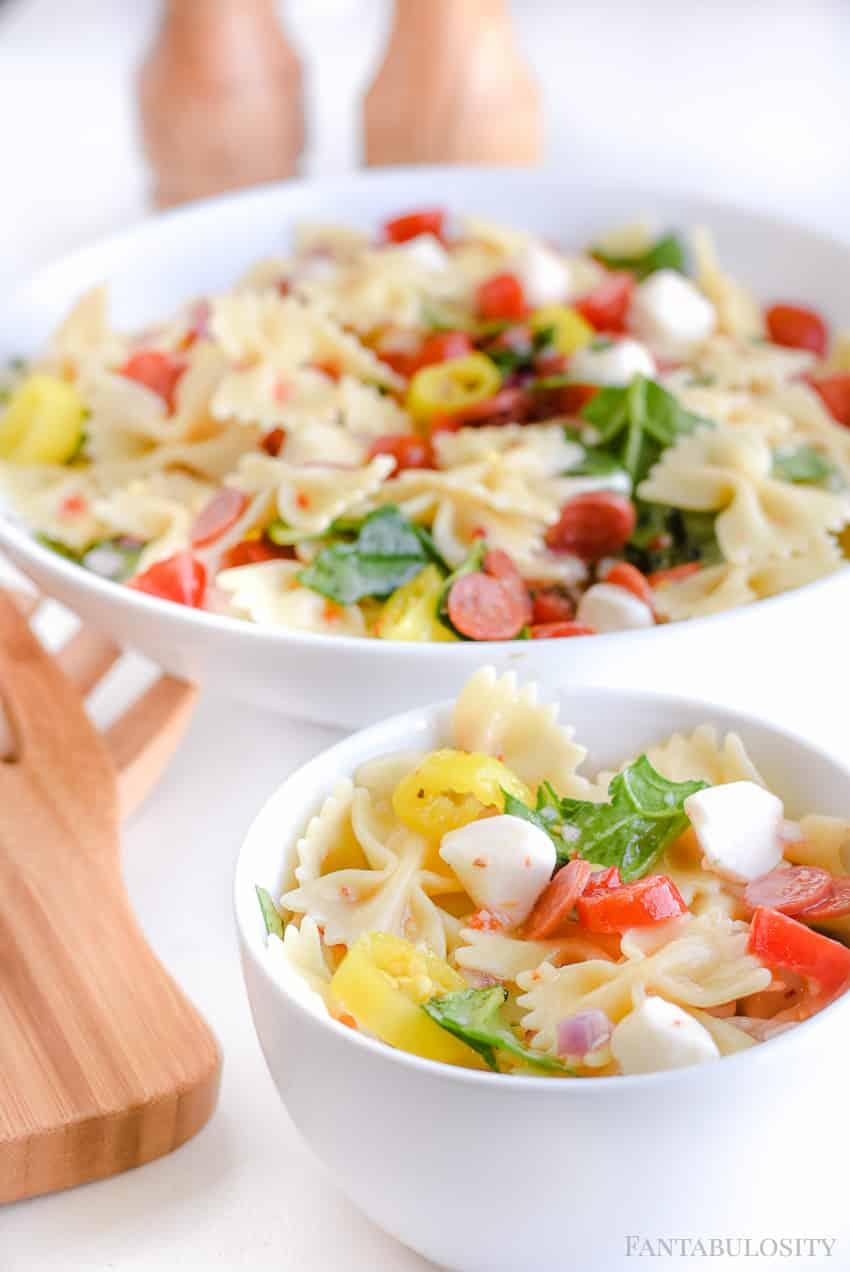 Pasta Salad Recipe - Cold Easy Italian pasta salad is the best side dish recipe!