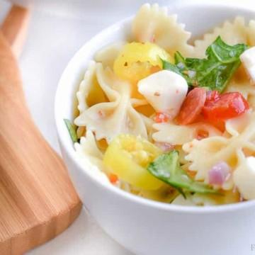 Pasta Salad Recipe - These easy Italian pasta salad recipe is SO good!