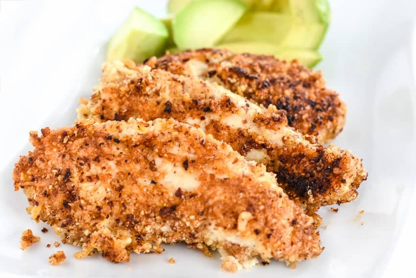 This almond meal chicken tenders recipe is so easy and so good! It's perfect for Keto chicken recipes and low carb chicken recipes!