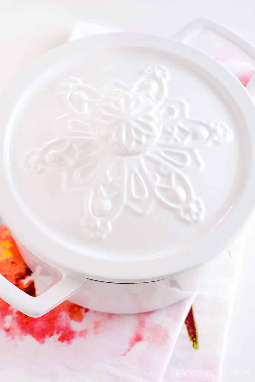 Martha Stewart Enameled Cast Iron Collection at Macy's - Snowflake Casserole Dutch Oven Pot Pan