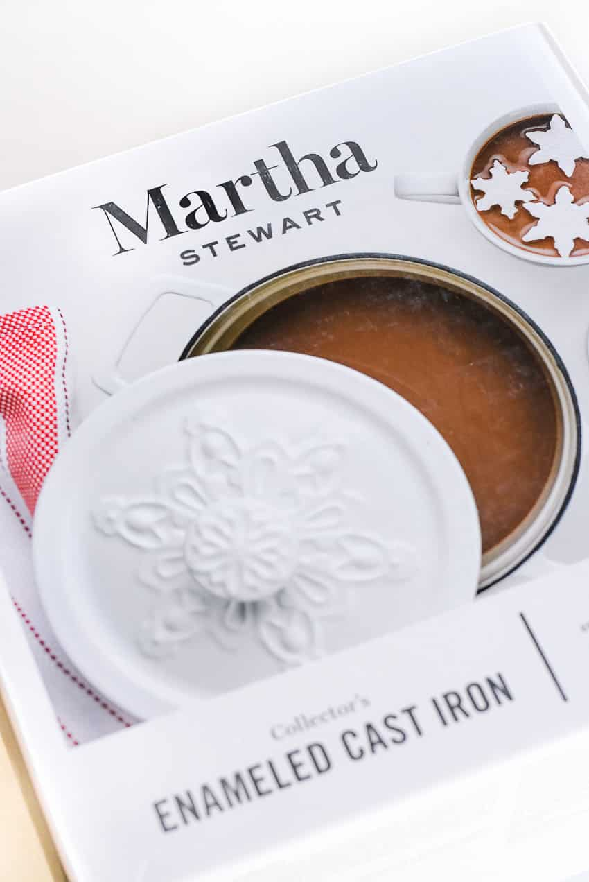 Martha Stewart Enameled Cast Iron Collection - Snowflake Casserole Dish