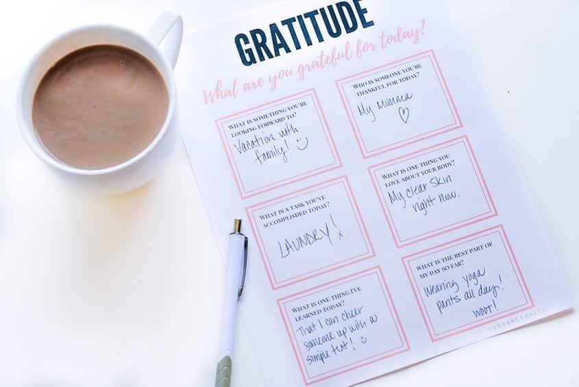 Gratitude Worksheets - for adults