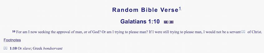 Seeking approval of man?