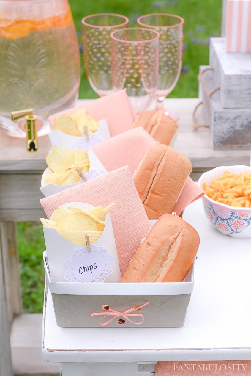 Individual Baskets for Hot Dog Bar