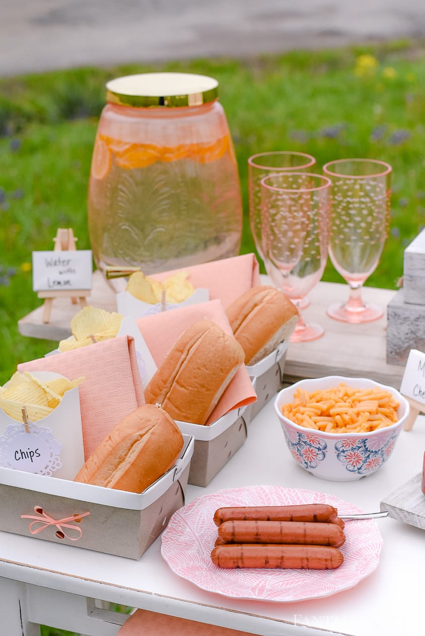 Hot Dog Bar Baskets for individual servings