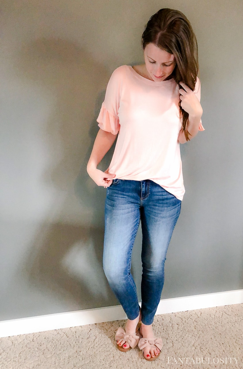 Trunk Club April 2018 Kut from the Kloth denim jeans and Chelsea 28 Top