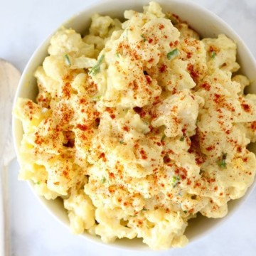 Cauliflower Potato Salad Recipe - An easy low carb recipe with vegetables!