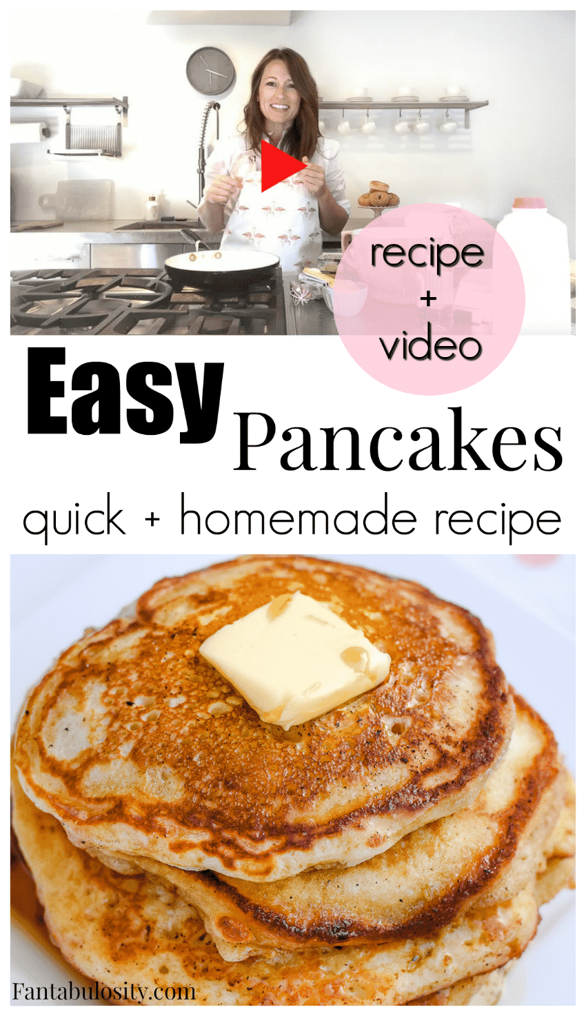 Easy and Quick Pancake - Fluffy pancakes recipe!