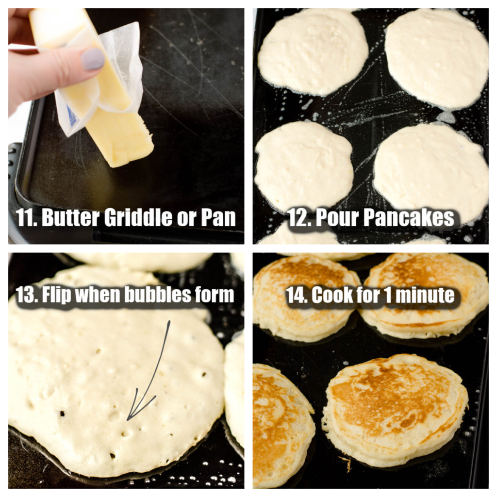 how to cook pancakes on griddle